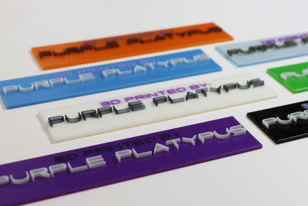 Purple Nameplates